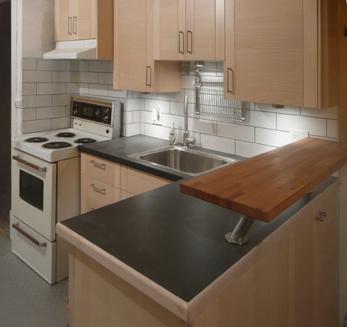 kitchen - yes, those are solid wood cabinet doors
